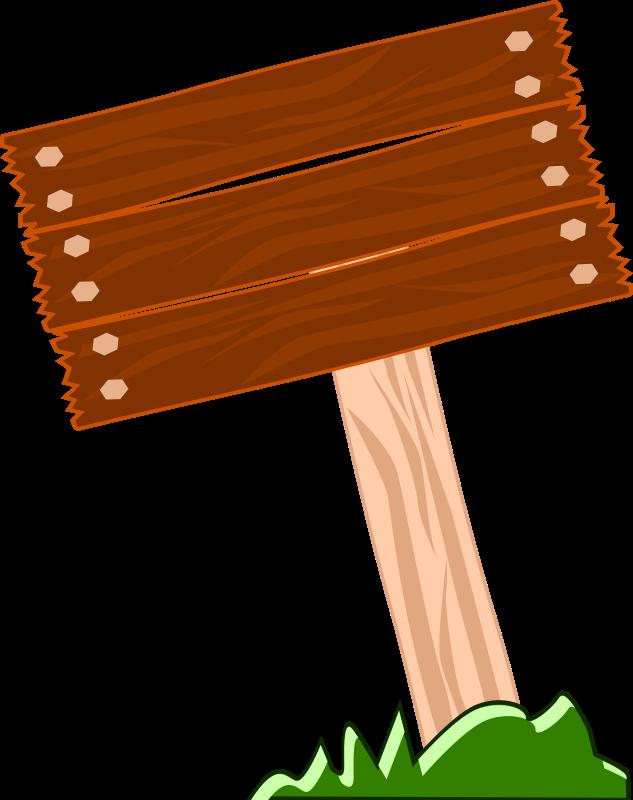 free vector Aviso madera