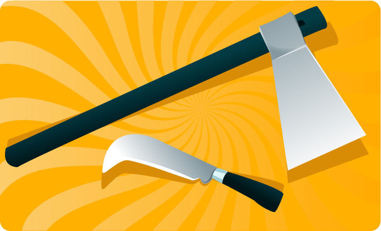 free vector Axes and knives
