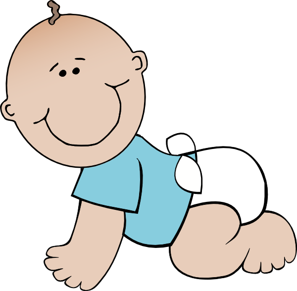 free vector Baby Boy Crawling clip art