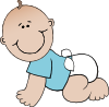 free vector Baby Boy Crawling clip art