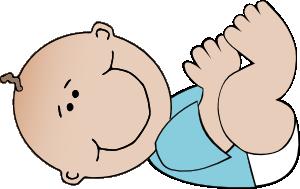 free vector Baby Boy Lying clip art