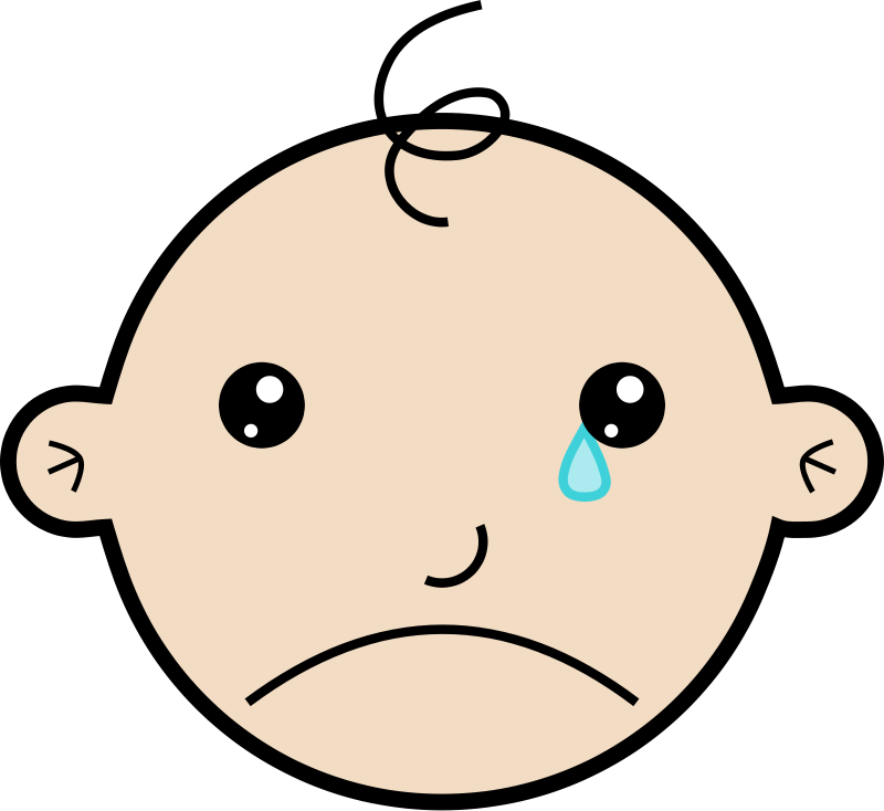 free vector Baby crying