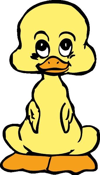 free vector Baby Duck clip art