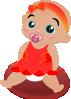free vector Baby Girl clip art