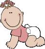 free vector Baby Girl Crawling clip art