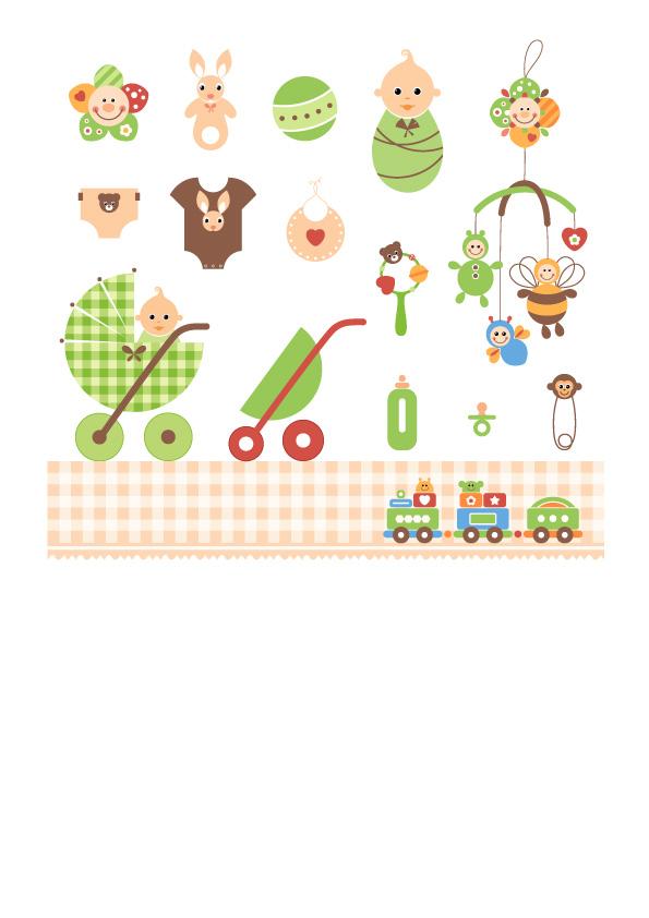 free vector Baby theme vector