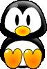 free vector Baby Tux clip art