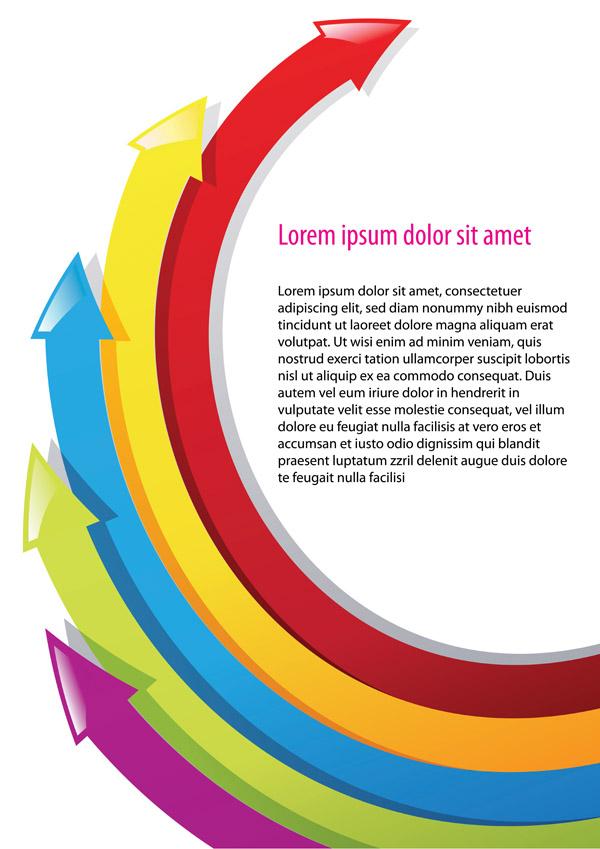 free vector Background color arrow vector