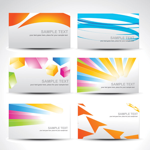 free vector Background color of the card vector fashion