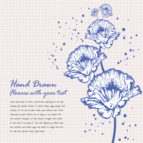 free vector Background color vector flowers card