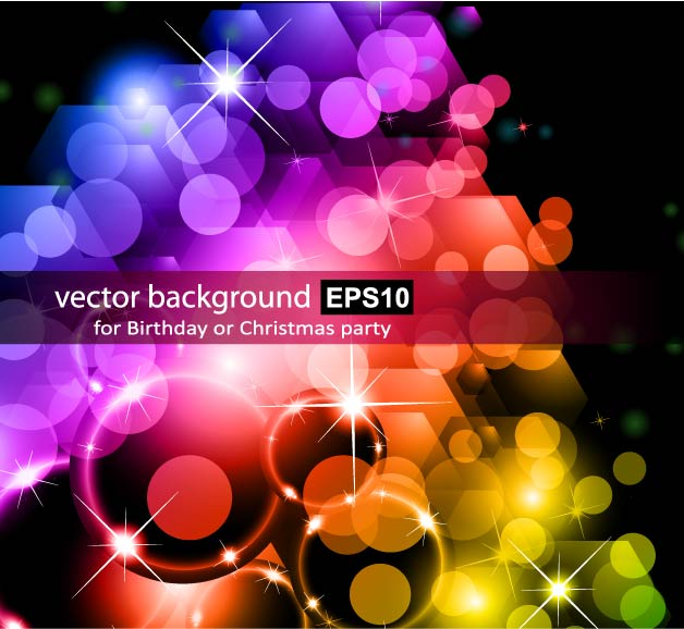free vector Background of bright halo stars 01 vector