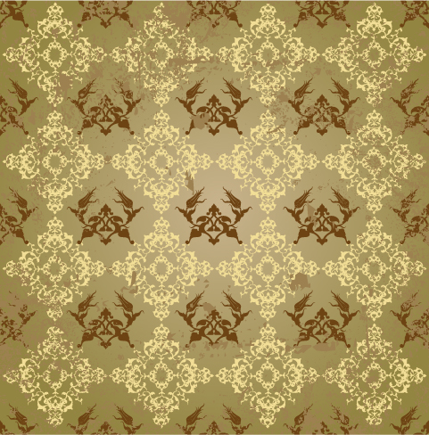 free vector Background of classical pattern vector fashion