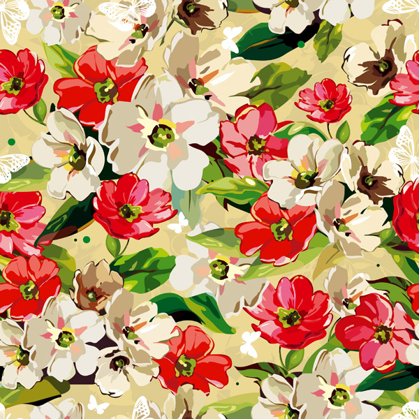 free vector Background pattern vector fashion 5