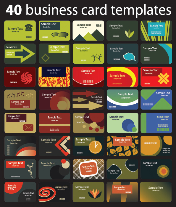 free vector Background section 80 card template vector 2