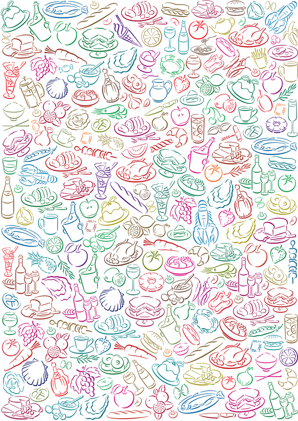 free vector Background vector cute diet