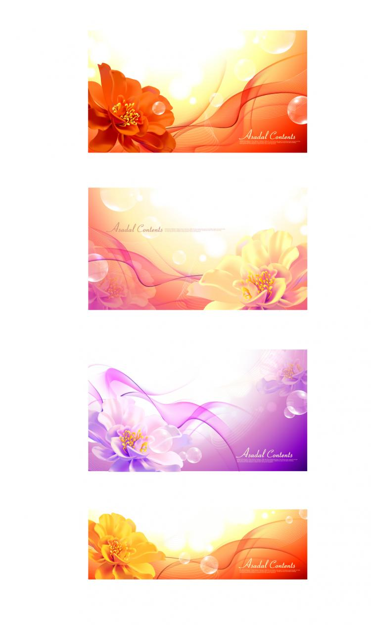 free vector Background with flowers vector dream