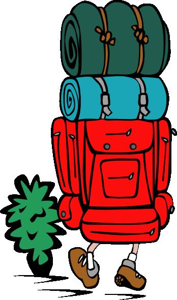 free vector Backpacker Heavy Load clip art