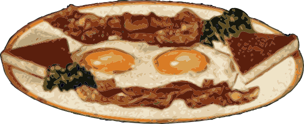 free vector Bacon And Eggs clip art