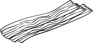 free vector Bacon (b And W) clip art