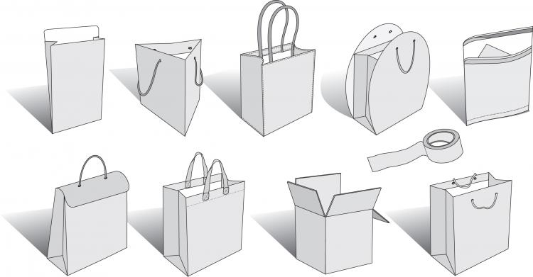 free vector Bag a variety of blank vector
