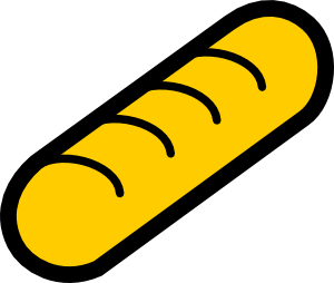free vector Bakery Baguette clip art