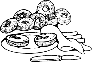 free vector Bakery Breakfast Bagels clip art