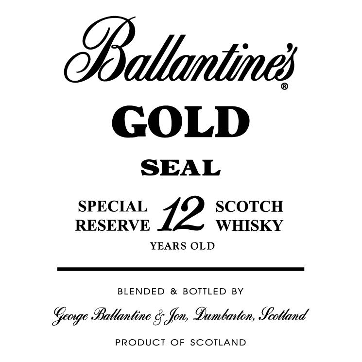 free vector Ballantines gold