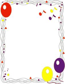 free vector Balloon Border clip art