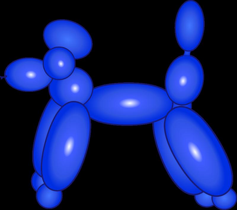 free vector Balloon Dog Blue