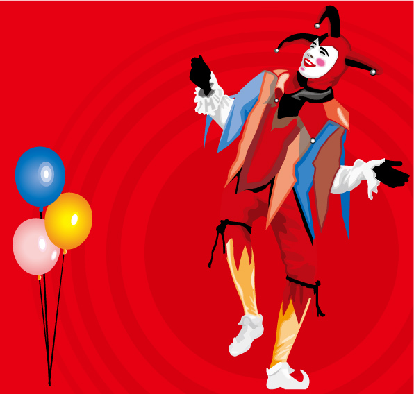 free vector Balloons and clown vector
