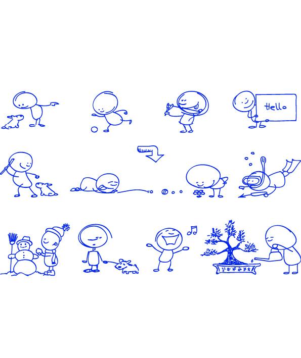 Ballpoint pen drawing cartoon clip (94334) Free EPS Download