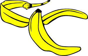 free vector Banana Peel clip art