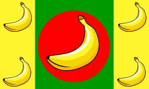 free vector Banana Republic Flag clip art