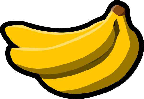 bananas icon clip art free vector 4vector rh 4vector com banana clipart outline bananas clipart black and white