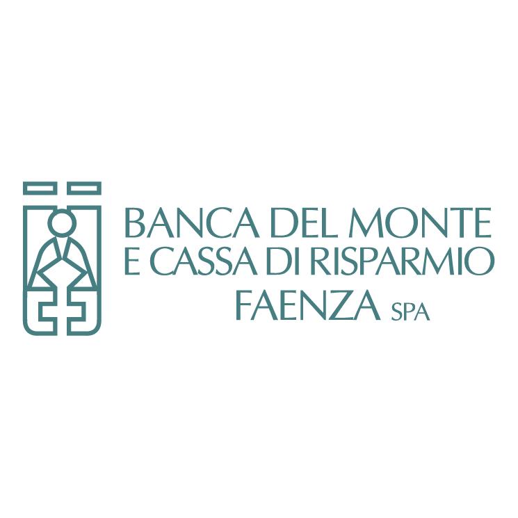 free vector Banca del monte e cassa di risparmio faenza