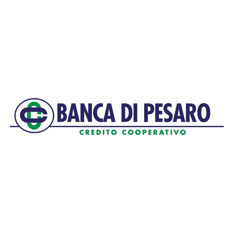free vector Banca di pesaro