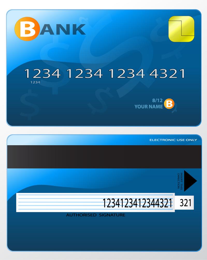 Bank Card Design Vector