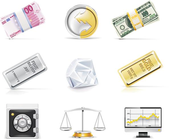 free vector Bank theme vector