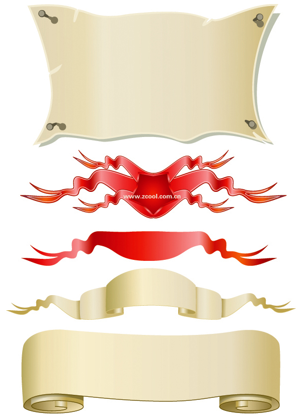 free vector Banner paper streamers vector
