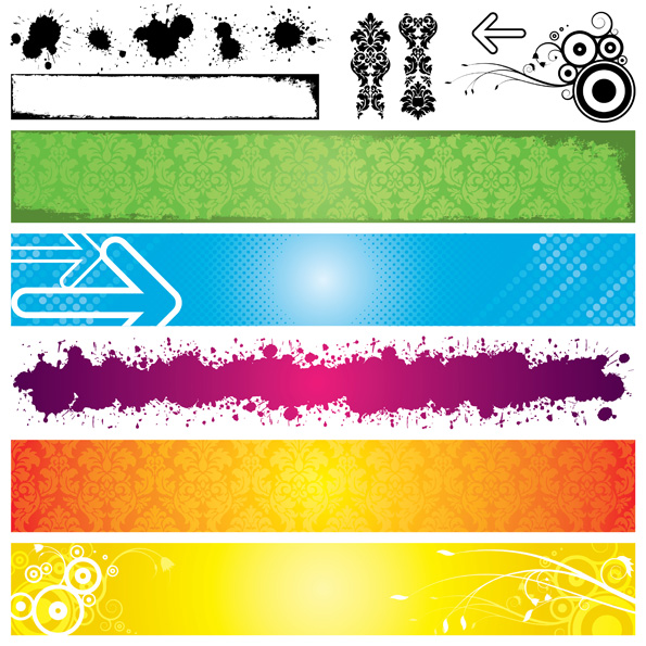 free vector Banner vector background