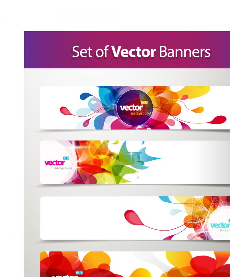 free vector Banner01dynamic pattern vector