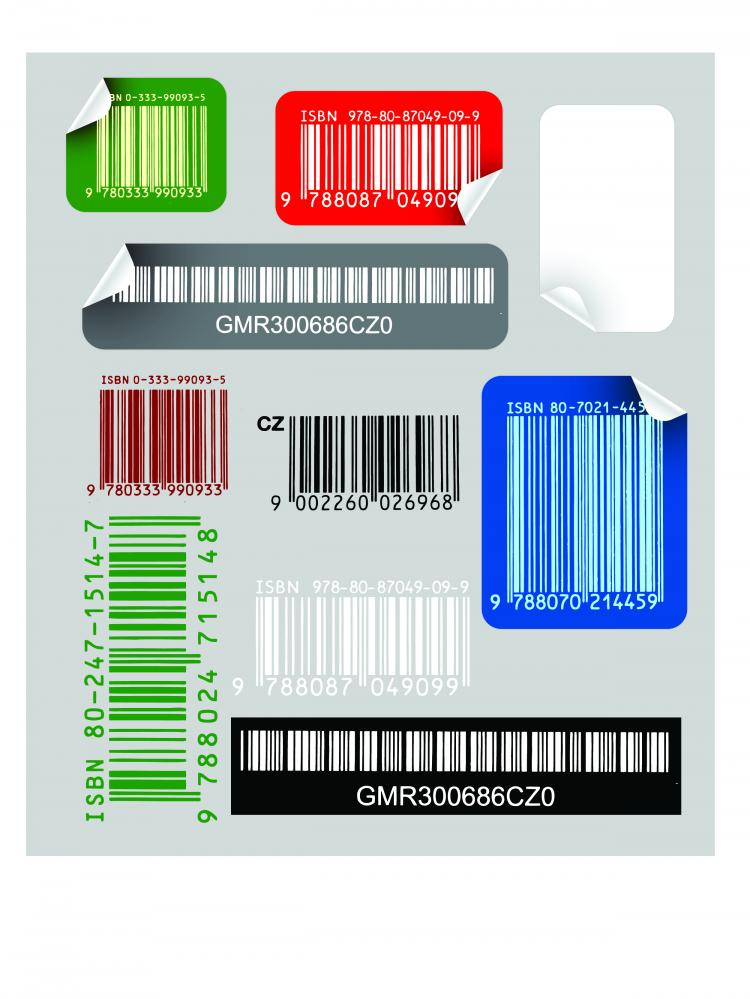 free vector Bar code sticker vector