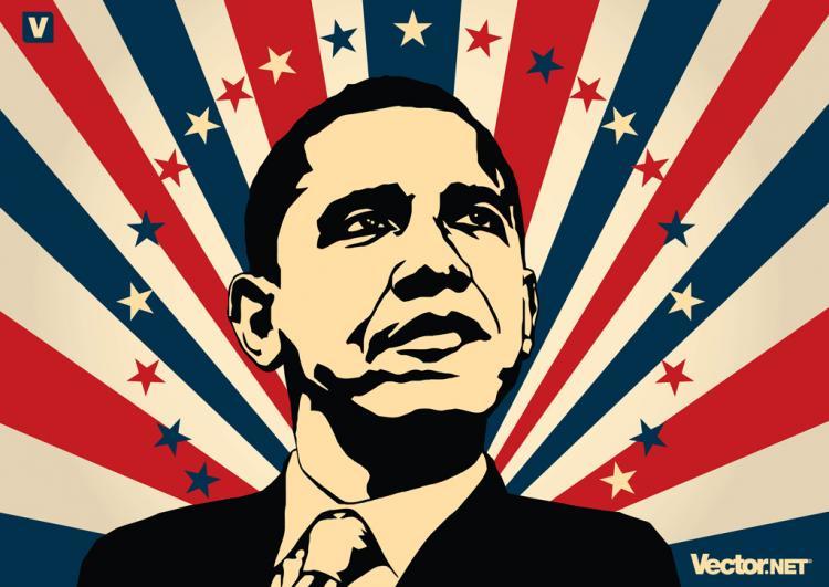 free vector Barack Obama