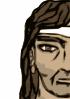 free vector Barbarian Half Head clip art