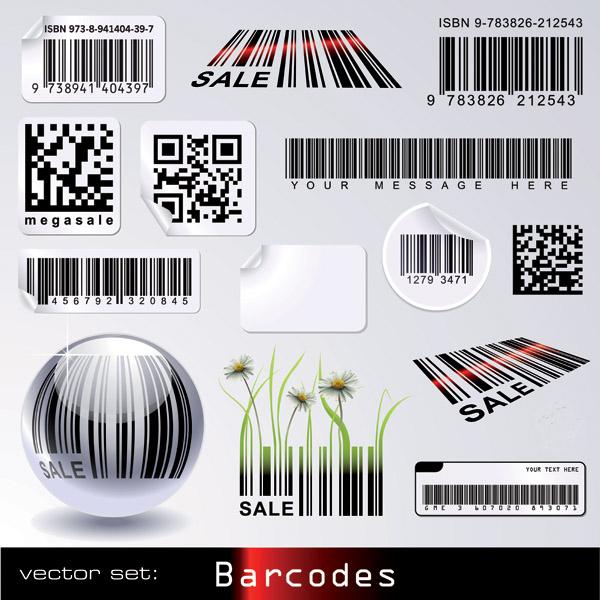 free vector Barcode theme vector