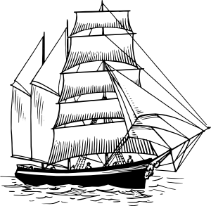 free vector Barquentine clip art
