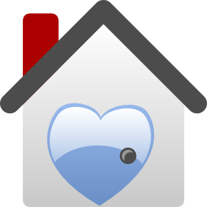 free vector Barretr House Love clip art