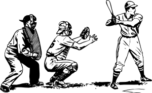 free vector Baseball At Bat clip art