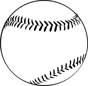 Baseball (b And W) clip art Free Vector / 4Vector