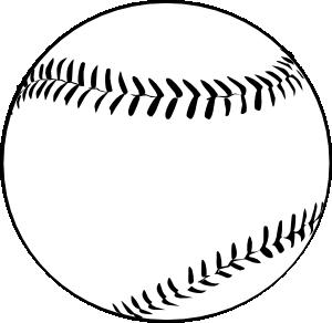 free vector Baseball (b And W) clip art